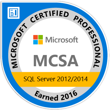 MCSA SQL Server 2012/2014